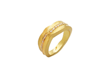 Ring in 18kt gold with brilliant.